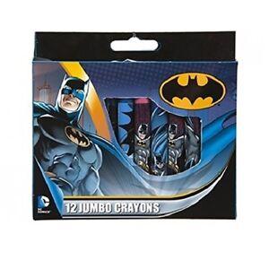 Batman Dc 12 Piece Jumbo Crayon Coloring Set, School Supply, Kids ...