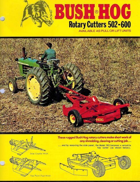 Bush Hog 502 600 Rotary Cutter Mower Sales Brochure