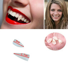 4pcs New White Fancy Vampire Denture Teeth Fangs Gothic Party Halloween Costume