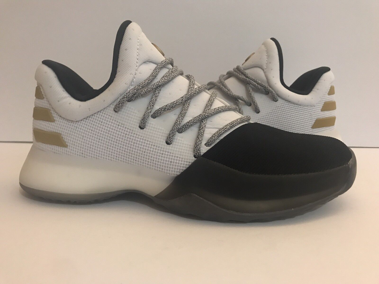 Adidas James Harden Vol 1. BY3481 Black White gold Sz 4