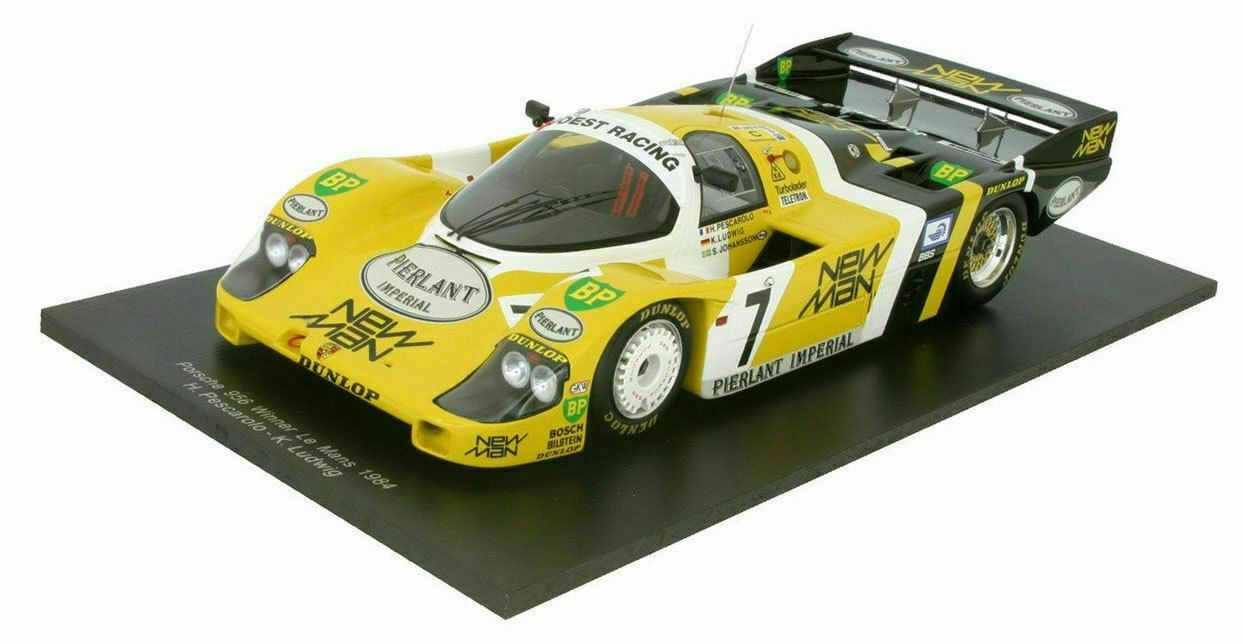 1 12 TSM Porsche 956 LH  7 1984 PESCAROLO LUDWIG JOHANSSON 24 H LM Winner