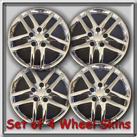 2010-2012 Ford Fusion Chrome 16 Wheel Skins Hubcaps Chrome Wheel Covers Set 4