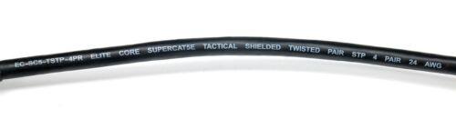 Lot Elite Core SUPER CAT5E CS45 DurableTactical Shielded Ethercon RJ45 Cable