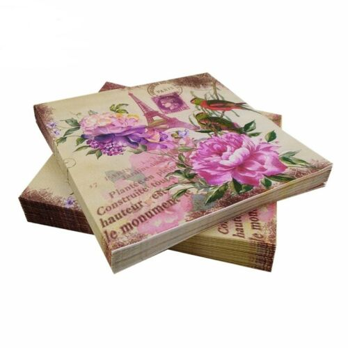 Eiffel Tower Paper Napkins for Decoupage Kleenex Serviettes Tissues Crafts Decor