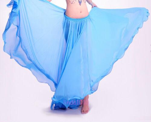 New Belly Dance Costume Chiffon Long Skirt Full Circle Dress Skirt 11 Colours