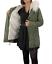 Parka-Donna-Invernale-Giubbotto-cappuccio-pelliccia-Cappotto-Imbottito-Lungo miniatura 16