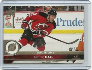 2017-18-Upper-Deck-Midnight-Taylor-Hall-10-25-New-Jersey-Devils