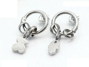 Stainless-Steel-Gold-plated-Hollow-Pendant-Bear-Earrings