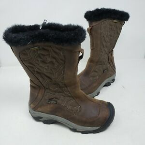 Keen-Betty-Boot-II-Brown-Leather-Shearling-Fur-Winter-Snow-Boots-Wmns-6-Quilted
