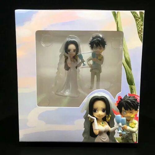 New One Piece Monkey·D·Luffy /& Boa Hancock Figure Toys Gift Wedding Cake Topper