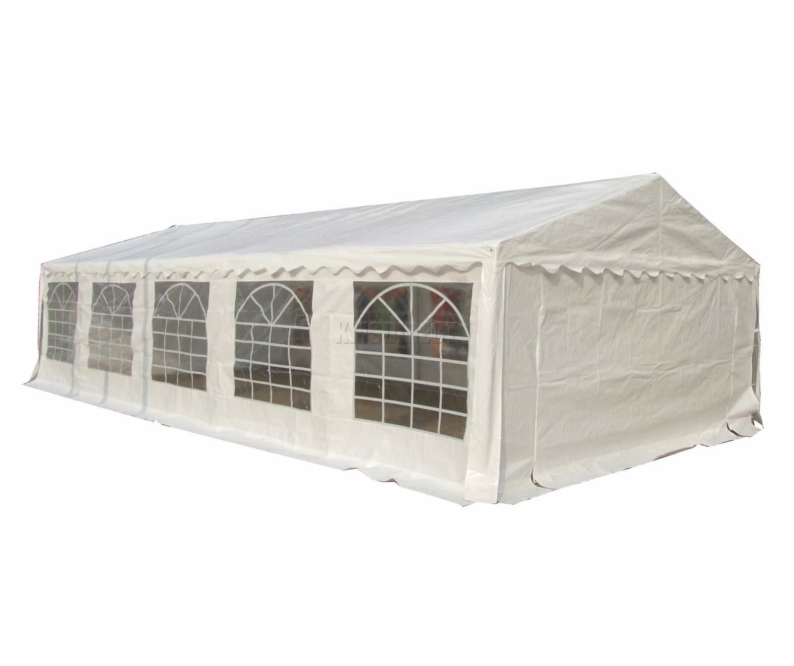 FoxHunter Outdoor 5m X 10m Heavy Duty Wedding Party Tenda Marquee SCORREVOLI BIANCO