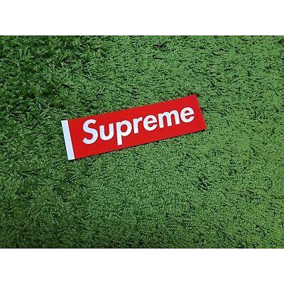 Supreme S/S 2017 Felt Sticker Box Logo Classic Red (White Tab)