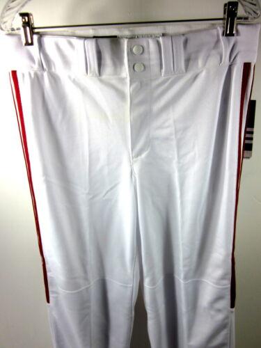 ADIDAS DIAMOND KING MEN/'S ANKLE BASEBALL PANT WHITE//RED SIZE MEDIUM 9561104