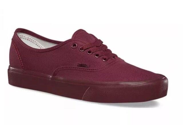 a673f72b46f3 Vans AUTHENTIC Lite Mens 4 Womens 5.5 Mono Cordovan Cordovan Burgundy  Sneakers
