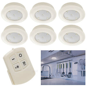 6-Remote-Control-Wall-Ceiling-Wireless-Round-LED-Lights-Kitchen-Bathroom-Cabinet