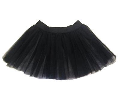 3 layer Pirate Tutu 80s Fancy Dress Black White Skull Gothic hen Party themed