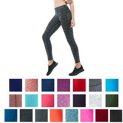 23697af7aea1b8 Details about TSLA Tesla FYP42 Women's High-Waisted Ultra-Stretch Tummy  Control Yoga Pants