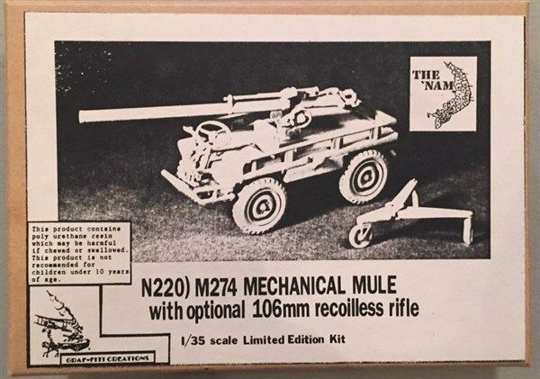 The Nam 1 35 M274 Mechanical Mule with Optional 106mm Recoilles Rifle N220