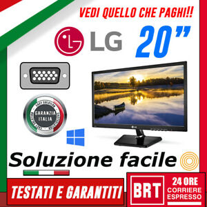 PC-MONITOR-SCHERMO-LED-20-034-PRO-19-5-POLLICI-LG-16-9-VGA-DVI-DISPLAY-BUONO-LCD