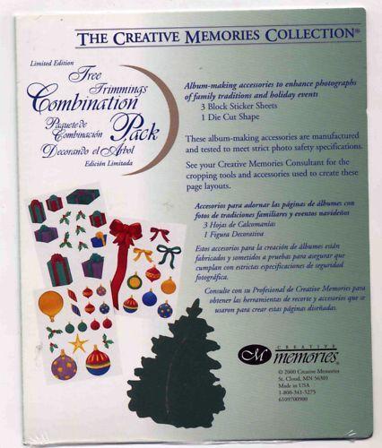 CREATIVE MEMORIES TREE TRIMMINGS COMBO PACK LTD ED BNIP