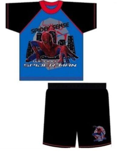Boys Spiderman The Movie Shortie Cotton Pyjamas Ages 3-4 5-6 7-8 9-10 Years
