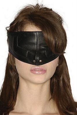 Strict Leather UPPER FACE MASK blindfold eye nose cover snap on strap black