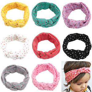 8-Stk-Baby-Kinder-Stirnband-Turban-Knoten-Schleife-Haarband-Maedchen-Haarschmuck