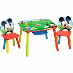 Disney Mickey Mouse Storage Table and Chairs Set Children Toddler ...