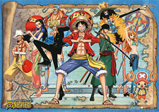 One Piece Group Wall Scroll Poster Anime Manga NEW