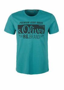 Herren T-Shirt mit s.Oliver Signature-Print viele neue Farben