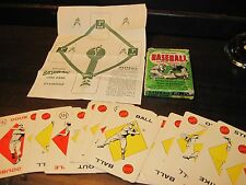 BASEBALL EDU-U-CARDS PLAYING DECK 1957 COMPLETE
