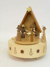 Spieldose Spieluhr Krippe, natur - Original Handwerkskunst aus dem Erzgebirge