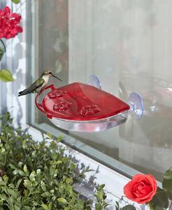 Sipper-Window-Hummingbird-Feeder-Perch-Nectar-Bird-Wildlife-Food-outdoor-Feeders