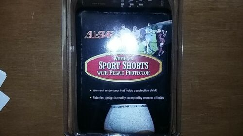 NEW Womens All Star Athletic Supporter Sport Shorts with Pelvic Protector K195W