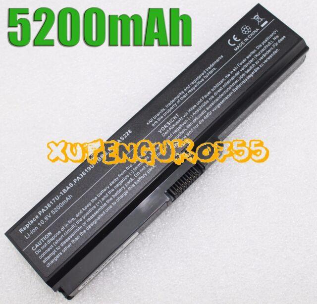 6 Cell Laptop Battery Toshiba Satellite C660 C660D C665 PABAS227 PA3817U-1BRS