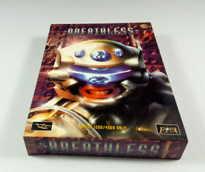 Breathless-Commodore-Amiga-1200-Big-Box-OVP-VGC-CIB-Vintage-Game-Collectible