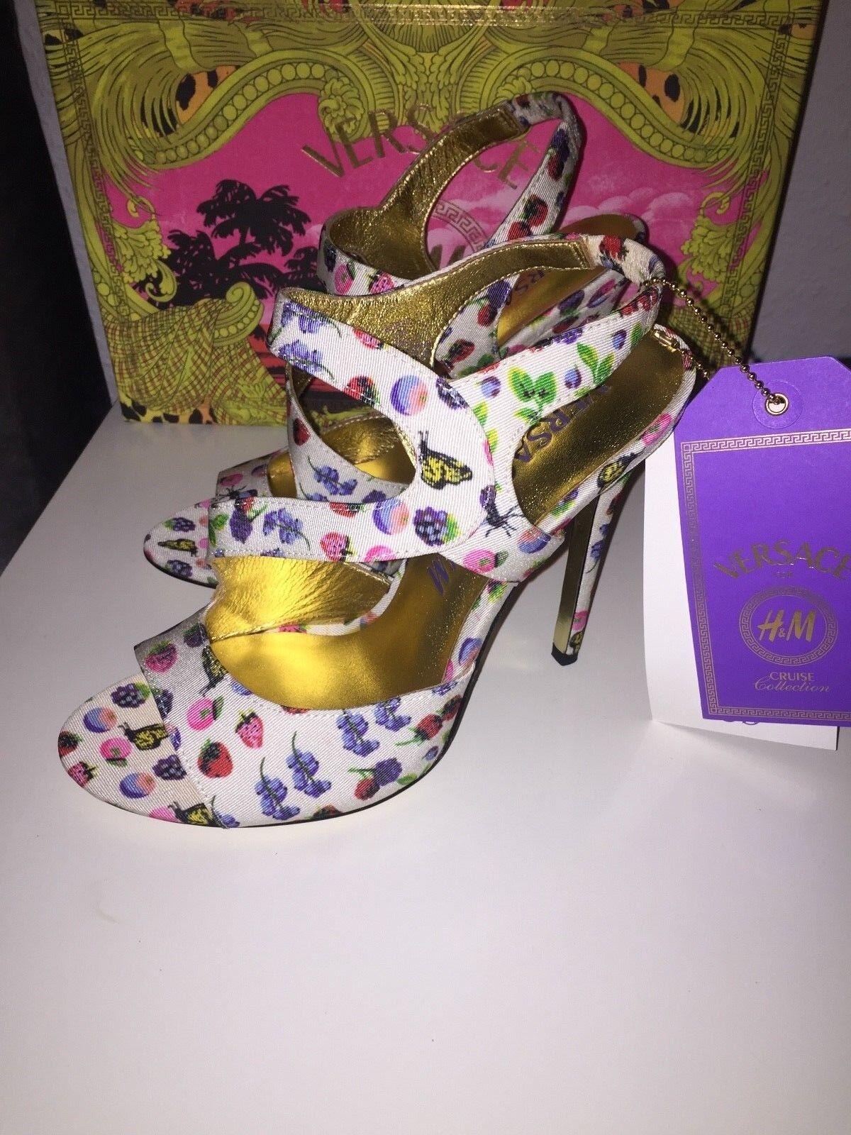 Versace for H&M Schuhe Größe Pumps High Heels EUR Größe Schuhe 40 size US 9 UK 7 neu new fc40f7