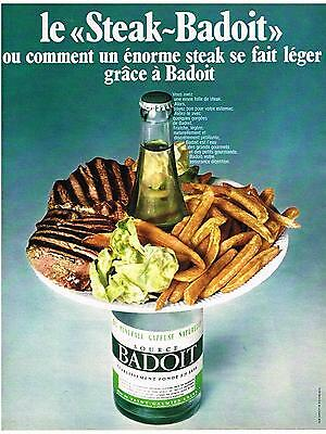 Collectibles Breweriana, Beer Genteel Publicite 1969 Badoit Eau Minérale Carefully Selected Materials