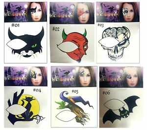 Halloween-Temporary-Eye-Tattoo-Sticker-Party-Face-Cat-Devil-Bat-Skull-Witch-2