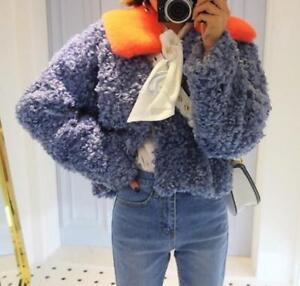 Jacket Parka Kvinder Farve Trench Frakke Furry xl Koreansk V Fur Curly Outwear S Blandet wxXdq1004n