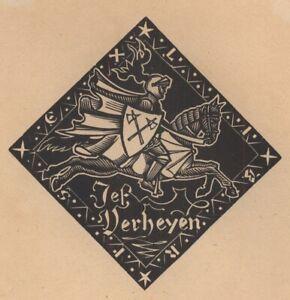 Ex-Libris-Lucien-de-Jaegher-Jef-Verheyen