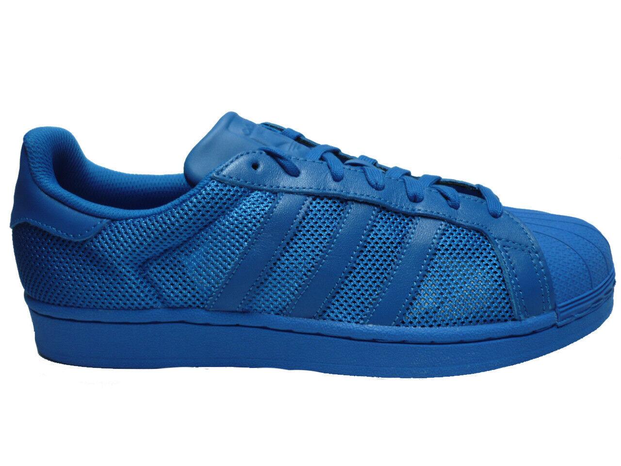 ADIDAS ORIGINALS superstar de retro zapatillas casual zapatillas de superstar deporte azul 27a615