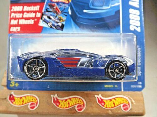 Details about  /2008 Hot Wheels #59 All Stars SPLIT DECISION Blue Variant w//Chrome OH5 Spokes
