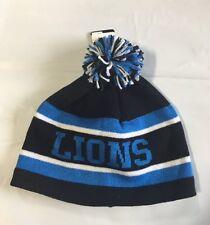 1b631b575 Detroit Lions Knit Beanie Winter Hat Toque Skull Cap NEW Pom Pom