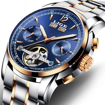 Luxury <b>Men Watch Male Automatic mechanical</b> Wristwatch Sport ...