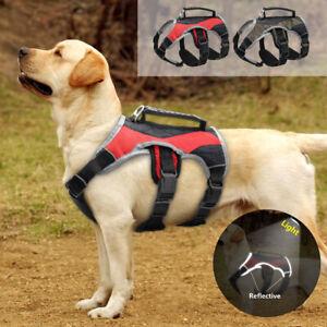 Reflektierend-Hundegeschirr-Geschirr-Tragegeschirr-Verstellbar-mit-Griff-S-M-XL
