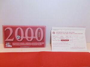 2000 Denver Uncirculated 10 coin set