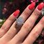 Luxury-Pear-Cut-White-Sapphire-CZ-Water-Drop-Wedding-Ring-925-Silver-Jewelry thumbnail 1