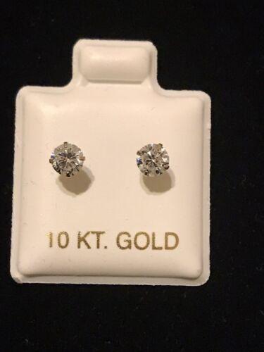 10KT Gold Baby Screw Ball Back Earrings 4 MM