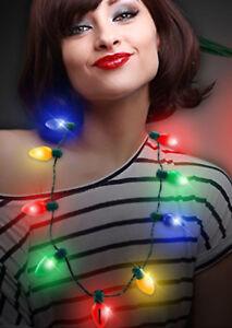 HOLIDAY-CHRISTMAS-JUMBO-Bulb-Necklace-Light-Up-Flashing-LED-Lights-FUN
